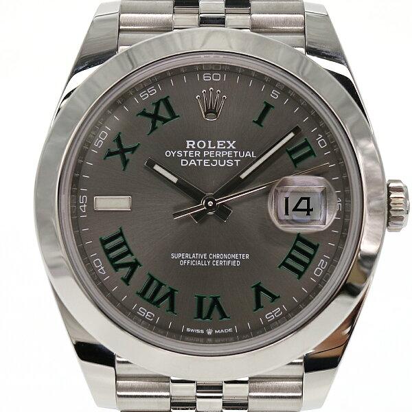 ROLEX ロレックス デイトジャスト41126300腕時計メンズ自動巻きステンレスランダム番2020年12月購入新ギャラグリー