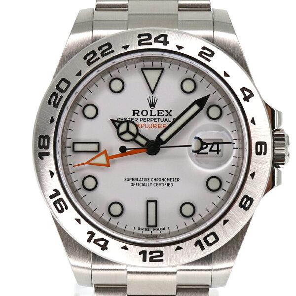 ROLEX ロレックス 216570エクスプローラー22021年3月購入ランダム番新ギャラ鏡面バックル保証書WH(ホワイト)SS