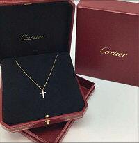 Cartier【カルティエ】B7221800クロスシンボルネックレス11pダイヤK18YG×ダイヤ【USED-A】k19-926