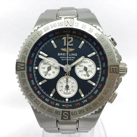 ブライトリング ハーキュリーズ クロノグラフ 黒文字盤 ブラック A39362 腕時計 自動巻き メンズ