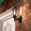 LED 玄関 壁付けライト おしゃれ 人感センサー付 LED 外灯電球交換可能 エクステリア クラシックポーチライト 黒色 05P03Dec16