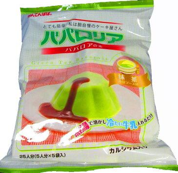 かんてんぱぱ ババロリア ババロアの素 抹茶 小豆ソース付 ファミリーサイズ(ババロアの素75gx5.小豆ソース50gX5)