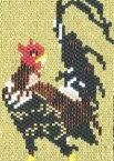 若冲・軍鶏図飾り PB-63 ビーズステッチキット ホビックス