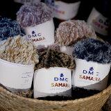 SAMARA サマラ DMC 【KN】 ファー毛糸 ファーヤーン フェイクファー 編み物 超極太 毛糸