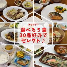 味の富士山 自由に選べる5食セット 冷凍弁当 健康弁当 宅配 おかず 惣菜弁当 おべんとう