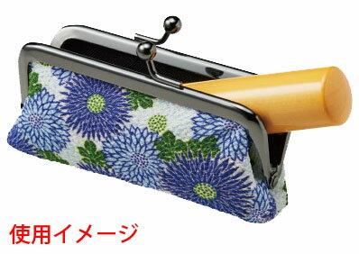 【ポイント10倍】シヤチハタ印鑑ケースお財布タイプ横入れ用餅花柄