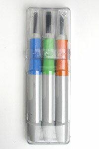 消しゴムはんこ 彫刻刀3本組 Aセット 【通常サイズ】 道刃物 RABBY KHSG