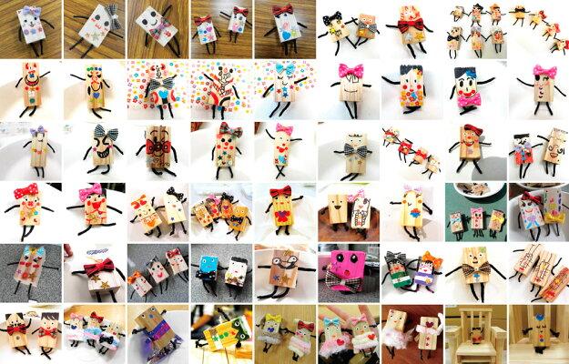 ◆からからさん◆からからつみき《積み木日本製国産》天然木木のおもちゃギフト出産祝いプレゼントお人形