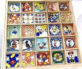 【九谷焼】色絵箸置きミッキーマウス&フレンズ箸置コレクション25種類木箱入りギフトセット