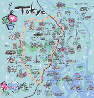 ポリエステルの風呂敷|東京地図ふろしき|70cm|唐草屋