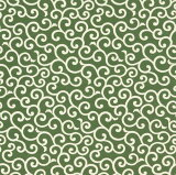 [お弁当箱包み]綿のふろしきシャンタン唐草(色:利休)50cm 風呂敷専門店・唐草屋