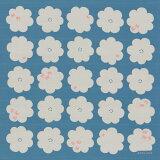 [お弁当箱包み]綿の風呂敷(ふろしき) コトイマ ハナトリ(青)50cm 風呂敷専門店・唐草屋