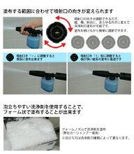 フォームノズル(ケルヒャーKARCHER高圧洗浄機家庭用高圧洗浄機洗浄器アクセサリーオプション部品アタッチメントパーツ)
