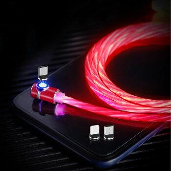 マグネット式充電ケーブル1miPhoneアイフォンマイクロusbmicrousbタイプCアンドロイドAndroid充電ケーブルType-CUSBTypeCCタイプ車載USB充電器アイコス3マルチiQOS3Multiiニンテンドー任天堂スイッチswitchゆうパケット送料無料