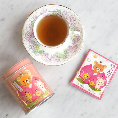桃の紅茶と缶とティーバック