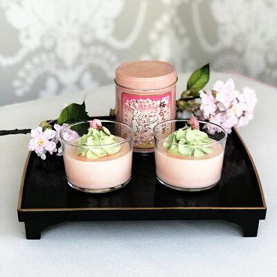 桜るん紅茶と桜のムース