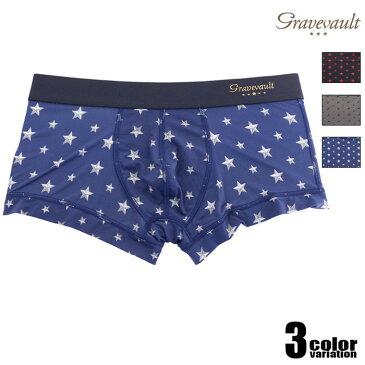 Gravevault/グレイブボールト Star Studs Low-rise 星柄 ボクサーパンツ 男性下着 メンズ パンツ