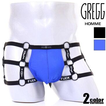 GreggHomme/グレッグ・オム OCTANE 3.0 HARNESS BOTTOM ハーネスTバック リング 猥言 Tバック 男性下着 メンズ パンツ セクシー