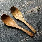 レンゲ木製蓮華16cm全2種ブナの木栗の木メール便不可商品