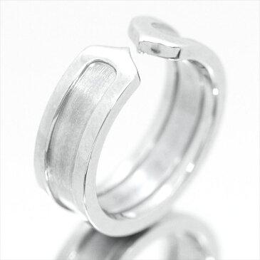 【新古品】カルティエ/Cartier / ジュエリー 指輪 レディース ホワイトゴールド / 2C ロゴリング K18WG B4040500