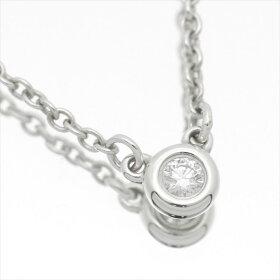 Tiffany&Co.ティファニーバイザヤードネックレスSV925スターリングシルバーダイヤモンド1P