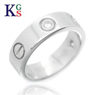 【新古品】【4号-23号】カルティエ/Cartier / love ラブリング ハーフダイヤ 3P / レディース ジュエリー 指輪 / WG ホワイトゴールド / B4032500