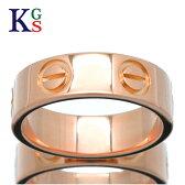 【ブランド】カルティエ【Cartier】アクセサリー リング 指輪 レディース メンズ / ラブリング love ピンクゴールド K18 750 PG / シンプル カジュアル 上品 きれいめ プレゼント 男性 女性 バレンタイン B4084800【ギフト対応】【新古品】【中古】