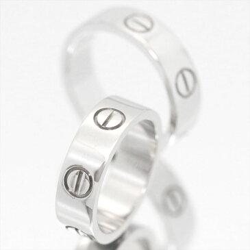 【新古品】【セット販売】【4号〜24号】/Cartier / カルティエ ペアリング / ラブリング lovering ホワイトゴールド K18 750 WG 2点 B4084752 / メンズ レディース マリッジリング