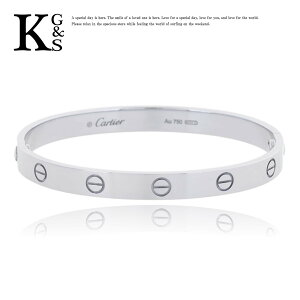 [جودة الهدية] سوار كارتييه كارتييه للجنسين الحب التنفس K18WG 750 الذهب الأبيض