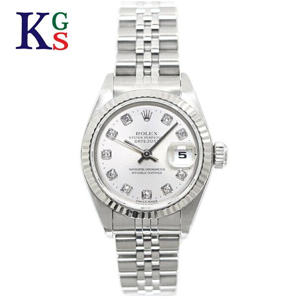 ギフト品質  SPECIAL梱包 ロレックス/ROLEXレディース腕時計デイトジャストシルバーxホワイトゴールドコンビ新10P