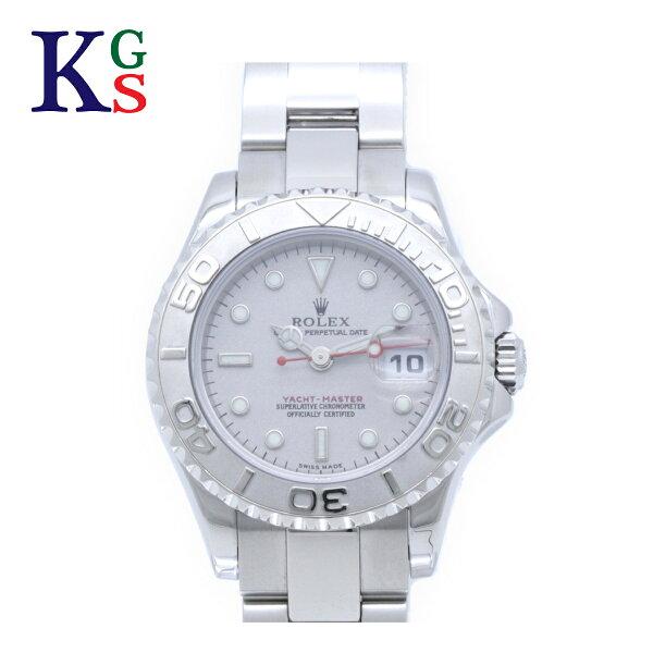 ギフト品質  SPECIAL梱包 ロレックス/ROLEXレディース腕時計ヨットマスターロレジムウシルバーPt(プラチナ)×SS