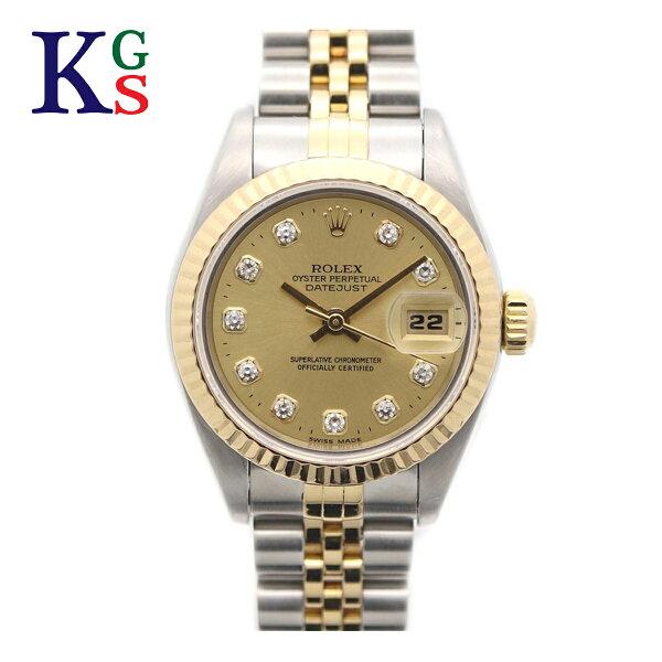 ギフト品質  SPECIAL梱包 ロレックス/ROLEXレディース腕時計シルバー×ゴールドコンビ新10Pダイヤモンドステンレス