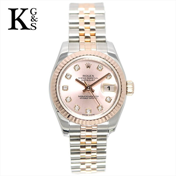 ギフト品質  SPECIAL梱包 ロレックス/ROLEXレディース腕時計デイトジャストピンク文字盤エバーローズゴールド10Pダ