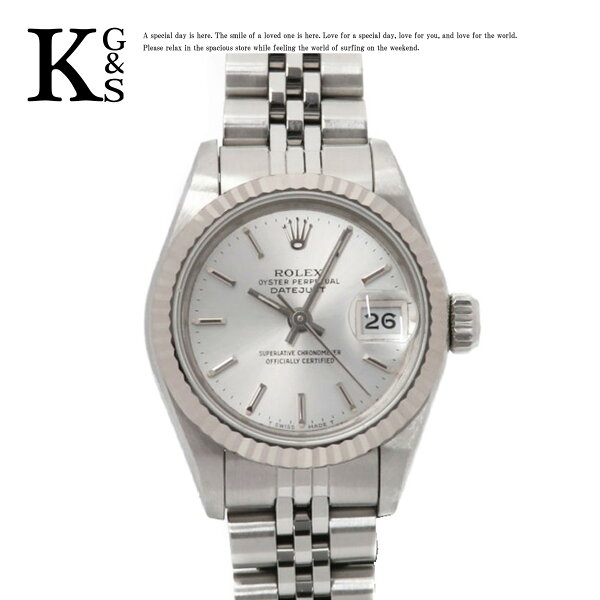 ギフト品質  SPECIAL梱包 ロレックス/ROLEXレディース腕時計デイトジャストシルバー文字盤ホワイトゴールド×シルバー