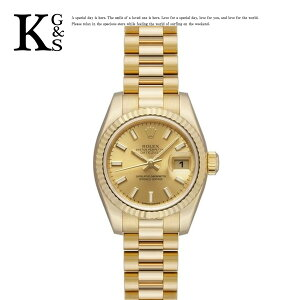[Gift Quality] Rolex/ROLEX Ladies Watch Datejust Yellow Gold K18YG Bar Index Automatic winding Gold 179178