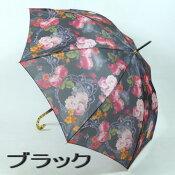 【送料無料】レディースジャンプ雨傘長:超軽量!オーガンジーアンブレラ「ガレネ」の透明感がおしゃれな雨晴兼用雨傘長〜UVカット加工済☆高品質な日本製