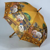 超癒し系!カワイイ女性用雨傘長〜ヘンリーキャットの雨傘「コーヒーショップ」が登場☆一匹一匹がカワイイです♪〜