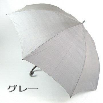 リーズナブルで70cmと大きいブランド雨傘長:Marelli(マレリー)グレンチェックと黒手元がおしゃれなメンズ雨傘長☆男性用ジャンプ傘
