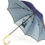 【送料無料!】メンズ雨傘長:高級傘定番の裏ほぐし織り「大航海時代」と天然木の手元がおしゃれ☆カーボン骨が軽量で高品質な日本製の男性用雨傘!店長おすすめ