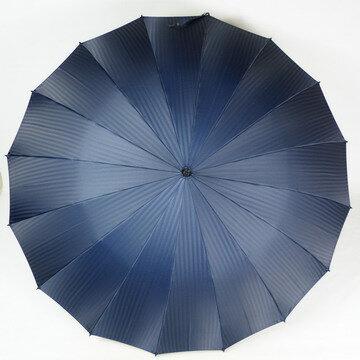 【レビュー書いて5%OFF&送料無料】16本骨で先染ジャガード織りシャドーストライプがおしゃれなメンズ雨傘長☆軽量で丈夫でノーブランドですが日本製高品質の男性用雨傘です☆130206_free【RCP】