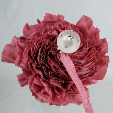 【レビュー書いて2%OFF&送料無料】薔薇のような大きめフリルたっぷりのかわいいレディース傘フリルアンブレラ丸い手元がおしゃれなノーブランドですが店長おすすめ!の女性用雨傘折りたたみミニ(3段折)です☆