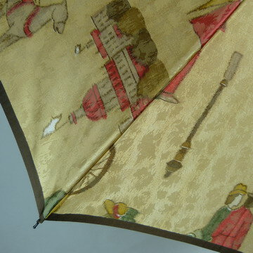 【送料無料!】『舞踏会への紳士淑女』ほぐし織がとっても上品でおしゃれなレディース雨傘折りたたみ傘(二段式)ノーブランドですがリーズナブルな日本製!『新田商店』女性用雨傘折【RCP】【楽ギフ_包装】新商品