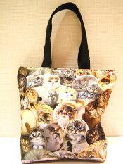 超癒し系!カワイイトートバッグ(小)〜犬猫ブランド「ヘンリーキャット&フレンズ」ヘンリーキャットが登場☆一匹一匹がカワイイバッグです♪