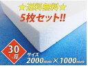 【送料無料】発泡スチロール(発砲スチロール) ボード 板 2000×1000×30☆5枚セット☆【断熱材】