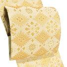 【丸勇正絹袋帯仕立て上がりフォーマル礼装用】帯新品販売購入西陣織礼装六通結婚式訪問着絹仕立て済みベージュ金色花菱華文fo-619