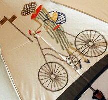 【パリの自転車】モンブランヤマグチほぐし織り(二段折畳傘)