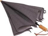 WAKAOワカオお洒落な男の日傘◆二段折傘 男性用日傘◆デュアルシャンブレー(レガシー グレィ )