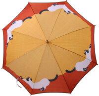 ◆猫(イエローオレンジ)モンブランヤマグチ婦人雨傘・長傘