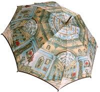 ◆シャンデリア(長傘)ベージュモンブランヤマグチほぐし織り婦人雨傘