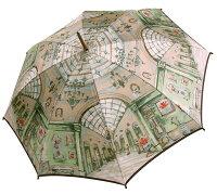 ◆シャンデリア(長傘)グリーンモンブランヤマグチほぐし織り婦人雨傘